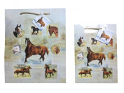 Horse Gift Bags Set of Two Small and Medium