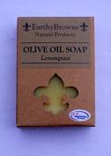 EarthyBrowns 100% Natural Lemongrass Olive Oil Soap - 180ml Bar