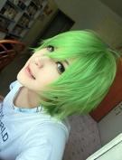 Weeck Anime Short Naruto Party Green Cosplay Wig