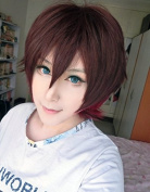 Weeck Anime Short Synthetic Multicolor Karneval Cosplay Costume Party Wig