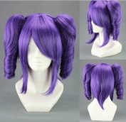 Weeck Anime Curly Purple Lolita Ponytails Bleach Cosplay Wig