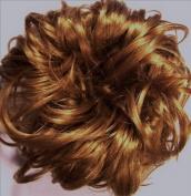 LACEY 7.6cm Pony Fastener Hair Scrunchie by Mona Lisa - 27 Strawberry Blonde