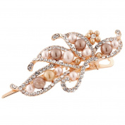 Binmer(TM)Women Hairpin Lovely Vintage Jewellery Crystal Pearl Duckbill Clip Beauty Tools