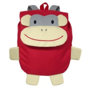 green sprouts Safari Friends Backpack, Red Monkey
