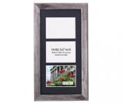 CreativePF 3 Opening Driftwood Picture Frame with Glass to hold 13cm by 18cm Photographs including 25cm x 50cm Black Mat Collage