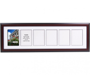 CreativePF- 6 Opening Glass Face Mahogany Picture Frame to hold 13cm by 18cm Photographs including 25cm x 90cm White Mat Collage