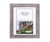 CreativePF- 2 Opening Glass Face Driftwood Picture Frame to hold 13cm by 18cm Photographs including 25cm x 30cm White Mat Collage