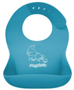 """McPolo's BABYSOFT iBib ® - the """"iPhone"""" in Silicone Baby Bib World! - Fitting MORE Growing Babies 3 Mos to PreSchoolers comfortably with Smart Buttons ♥♥♥ TOTAL PORTABILITY - Light, flexible, rolls up easily into .."""