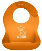 """McPolo's BABYSOFT iBib ® - the """"iPhone"""" in Silicone Baby Bib World! - Fitting MORE Growing Babies 3 Mos to PreSchoolers comfortably with Smart Buttons ♥♥♥ PREMIUM QUALITY - Silky Soft to the touch, ALL 100% Ultra .."""