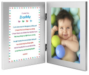 New Dad Sweet Poem in Double Frame for Their First Father's Day Together - Add Photo