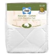 Sealy Naturals Cotton Crib Mattress Pad Cover