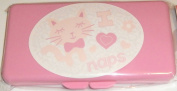 Pink I Heart Naps Baby Wipes Case
