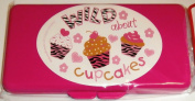 Pink Wild About Cupcakes Baby Wipes Case