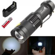 Best LED Light Torch Lamp Convex Lens Flashlight for Hunting
