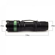 Superbly Flashlight 2200LM Bright Focus Torch Lamp Zoom Adjust Colour Black