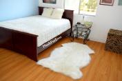 Natural Realistic Sheepskin Faux Fur Single Pelts White Acrylics Nonslip Suede Backing Plushfurever