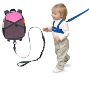 Brica By-My-Side Safety Harness Backpack, Pink with Kid Keeper