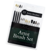 New 15 Artist Paint Brushes Set Acrylic Oil Watercolour Painting Craft Art Model Shopmonk