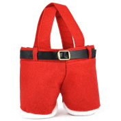 Topro Santa Red Cute Pouch Treat Pants Gift Candy Bag