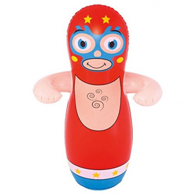 Ouse Valley Inflatable Big Bop Wrestler. Red. Kids Outdoor Punch Bag. Sand Compartment. New.