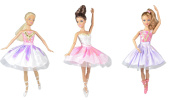 Dresses for Barbie - Ballerina Collection (3 Outfits) - DOLLS NOT INCLUDED