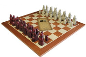 Isle of Lewis Ivory & Mahogany Chess Pieces with 48cm Mahogany Chessboard