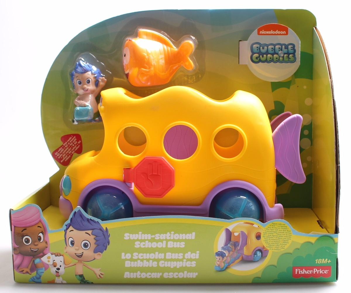 Fisher Price Nickelodeon Bubble Guppies Swim Sational School Bus By