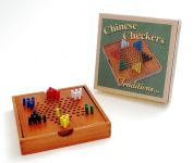 Wooden Travel Chinese chekers board with storage compartment