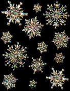 Large Iridescent Snowflake Stickers For Your Frozen Party