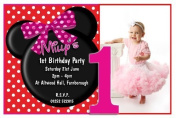 10 Personalised Girls Mouse Party PHOTO Invitations N147