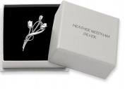 Sterling Silver Rennie Mackintosh Tulip Brooch available in 2 sizes - Gift Boxed. PLEASE CHOOSE SIZE 36mm or 47mm 9107/8