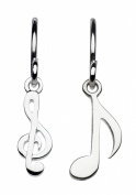 Dew Sterling Silver Silver Melody Musical Drop Earring 6459HP