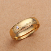 Hot Style Noble Jewellery 18K Gold Plated Fashion Women Ring Pure Love A Zircon Men'S Size 10