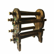 Unique Design Wooden Six Rods Foldable Bangle Stand
