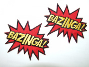 """""""BAZINGA"""" The Big Bang Theory - Embroidered Iron-On / Sew-On Patch - 2 Badges by ONEKOOL by ONEKOOL"""