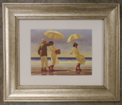 The Picnic Party by Jack Vettriano Framed Art Print Picture (33cm x 28cm) Silver Frame