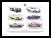 Lotus Classic Cars 1957-1975 - Elan Sprint, Europa, Elan Plus 2, Elite - Art Print