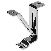 Swish Generic 28mm Metal Curtain Pole Top Fix Passing Bracket, Chrome