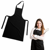 BLACK KITCHEN COOKING APRON WITH POCKET COOKING CRAFT BAKING BUTCHER WATER PROOF Fusion