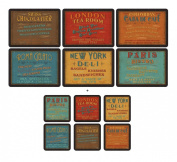 Pimpernel Lunchtime, 6 Placemats + 6 Coasters