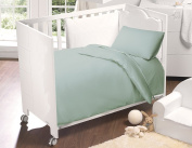 Love2Sleep 100% EGYPTIAN COTTON COT BED DUVET COVER 100 X 120 CM & PILLOWCASE SET : DUCK EGG BLUE