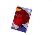 Andy Warhol by Troika Slim Goethe Designed Curved Acrylic 2 Compartment Business Card Case for Trade Fairs
