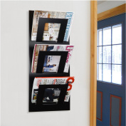 Black Wall Mounted Magazine Newspaper Rack by THE METAL HOUSE