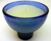 . Blue Votive Candle and Holder
