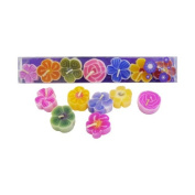 Handmade fairtrade scented flower floating candles in gift box set/Mini Pack