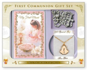 My First Holy Communion Missal Book & Gift Set for a Girl, with Prayer Card