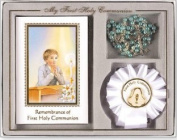 Boys First Holy Communion Book & Rosette Gift Set