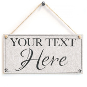 Your Text Here (Classy Traditional Design) - Custom Personalised Wooden Sign Gift