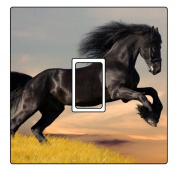 Black Horse Vinyl Light Switch Cover Sticker