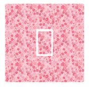Vintage Pink Ditsy Floral Vinyl Light Switch Cover Sticker